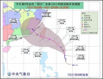 """终于要降温了!今年第9号台风""""纳沙""""来了!"""