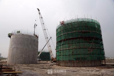 新区大港水厂一期工程主厂区竣工