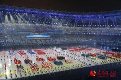 第十三届全运会在天津隆重开幕 习近平出席并宣布运动会开幕