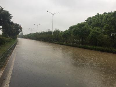 过往司机请注意!南徐大道润州公安分局段淹水无法通行