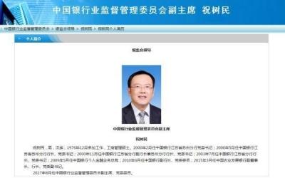中国农业发展银行行长祝树民调任银监会副主席,系江苏扬州人