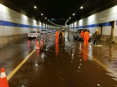 刚刚,观音山隧道积水严重  警方提醒:已经封闭