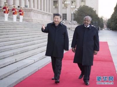 习近平举行仪式欢迎吉布提总统访华