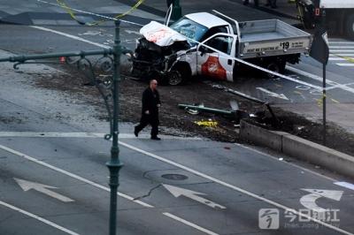纽约曼哈顿发生卡车撞人恐袭事件