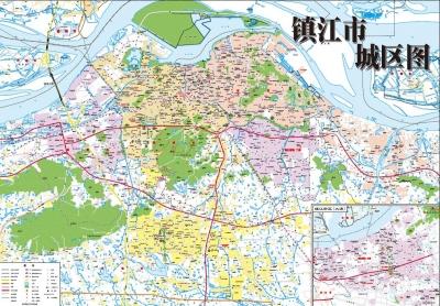 最新版镇江城区、政区地图元旦起发行