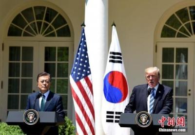 韩美领导人通电话讨论半岛局势