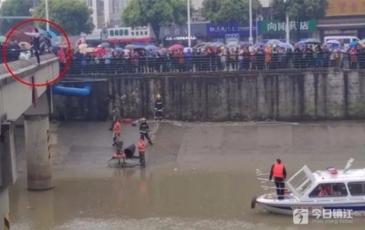 视频 | 危险!桥外站着一个女孩!今天发生在丹阳的事好揪心