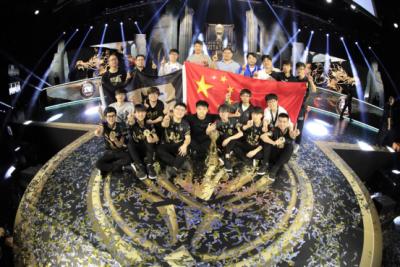 牛!中国战队时隔三年再夺英雄联盟世界大赛冠军