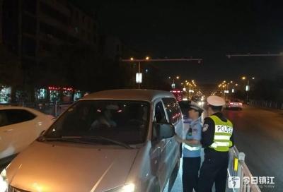 丹阳交警突击检查,一夜查获7起酒驾