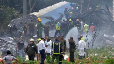 一架波音737客机在古巴坠毁 机上载有104名乘客