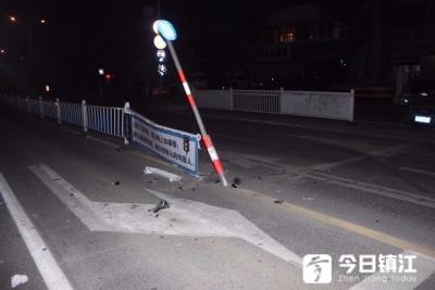 男子醉驾闯红灯撞护栏后,找老婆顶包被当场识破