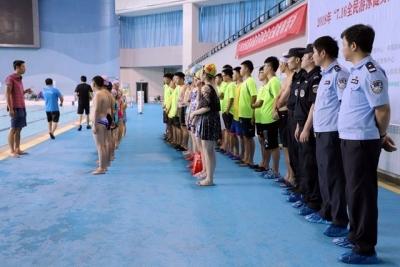 扬中公安开展水中救生培训 提升溺水警情处置能力