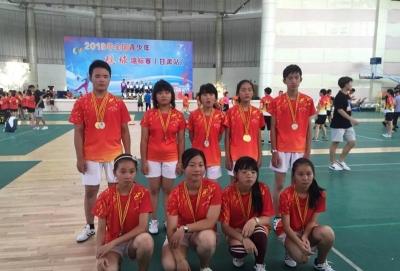2018年全国青少年毽球锦标赛上丹阳选手获佳绩