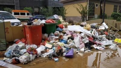 """丰盛山庄二期生活垃圾再次""""成堆"""":街道社区与环卫沟通后清完"""