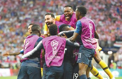 法国队夺得世界杯冠军