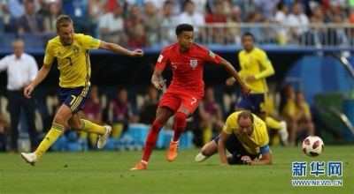 """英格兰""""顶翻""""瑞典 杀入世界杯四强"""
