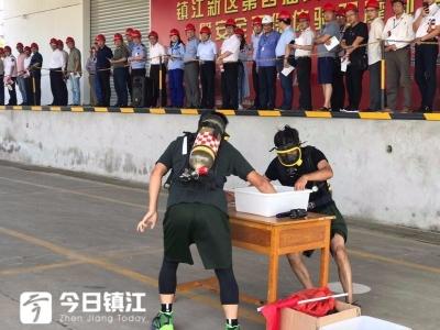 """镇江新区组织开展岗位应急技能比武:16只代表队""""论剑"""",提升本质安环技能"""