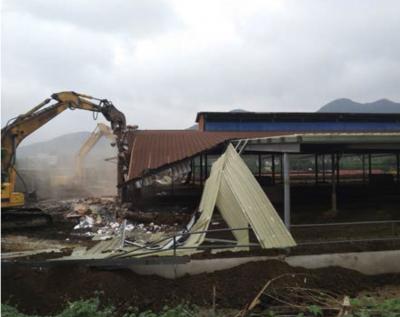 两天内拆除两万平方米钢结构养殖棚!  丹徒区住建局快速拆除一大体量违建