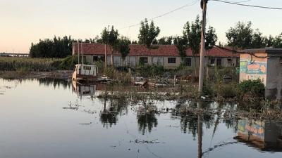 探访寿光受灾村:积水一米以上、下降缓慢,村子可能需要重建