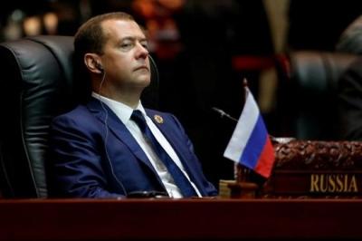 梅德韦杰夫称:美国对俄的制裁可被视为发起经济战