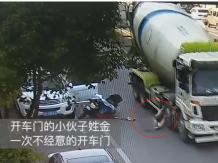奇迹幸存!骑车人头部遭大货车碾压,全靠它救了一命