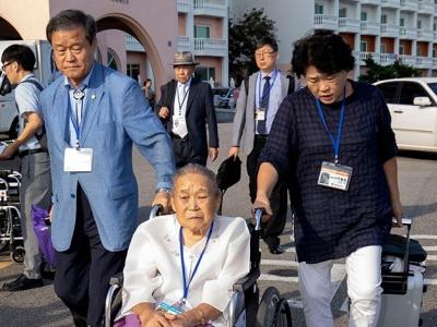 韩国离散亲属赴朝参加团聚活动