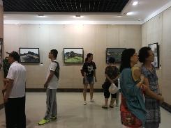 """""""无问中西——五人艺术展""""在市美术馆举办"""