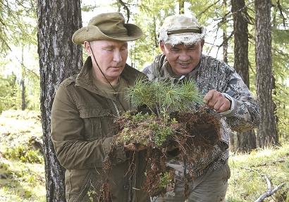 徒步代替钓鱼,观察野生动植物,普京率高官西伯利亚度假