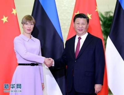 习近平会见爱沙尼亚总统卡柳莱德