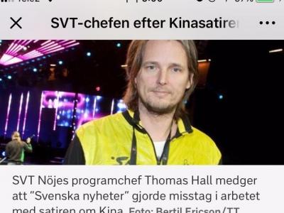 """瑞典电视台回应辱华节目称""""表达的整体意思出现了缺失"""" 并未道歉"""