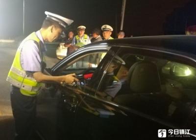 丹徒交警15个点无盲区查酒驾,一晚上查获21起!