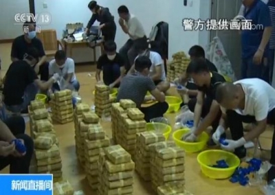 云南警方破获231公斤特大运输毒品案 大货车水箱藏玄机