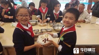 最暖心的重阳糕!重阳节前,镇江萌娃为老人亲手做重阳糕