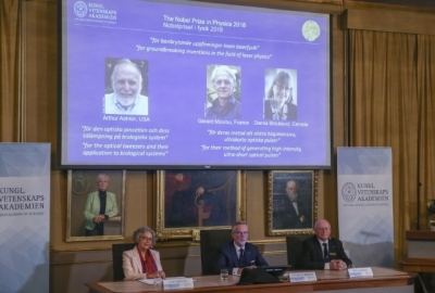 让光成为奇迹工具——三国科学家拿下2018年诺贝尔物理学奖