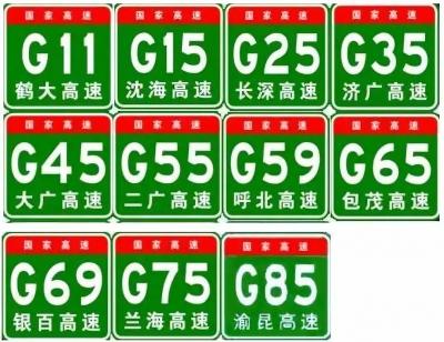 高速你可能常开,想要弄清路牌上的字母和数字啥意思,看这里就够了