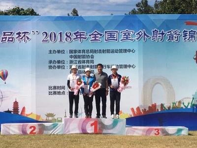 镇江选手张心妍喜获2018全国室外射箭锦标赛反曲弓女子个人赛冠军