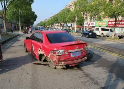 奥迪车速过快 发生交通事故