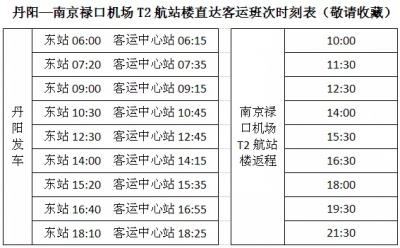 """镇江丹阳至南京禄口机场直达班线三""""新""""服务全面升级!"""