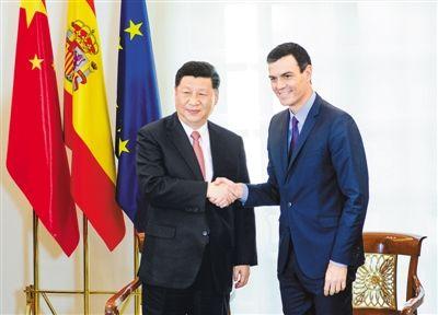 习近平同西班牙首相桑切斯共同会见中西企业顾问委员会双方代表