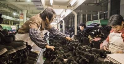 """高桥雪地靴生产企业备战""""双十一"""""""
