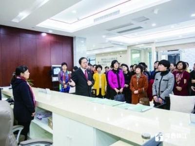 陕西省渭南市妇联代表团参观了解了润州法院家事审判工作