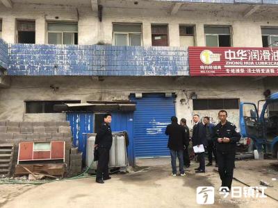 句容市天王镇查处2处违法经营加油站点