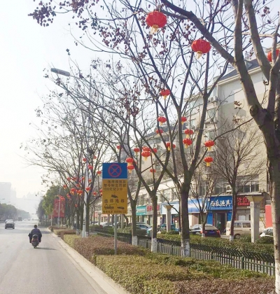 丹阳开发区悬挂2000余灯笼喜迎佳节