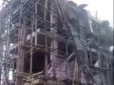福建莆田一在建民房发生脚手架滑落事故,已致5人遇难