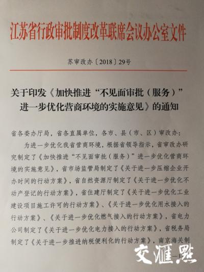 """优化营商环境,江苏出台""""1+10""""政策""""大礼包"""""""