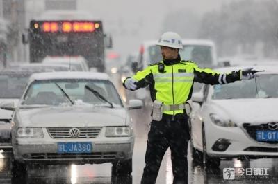 2019年首场大雪来了 镇江市内交通情况如何?