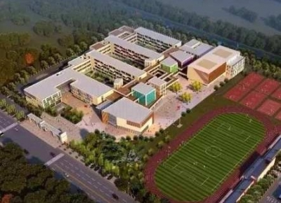 句容城区两所新建小学施工进度连连看 黄梅小学已经完工