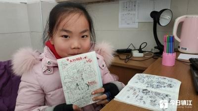 """镇江一小学生画画成""""明星""""  一天能画十几张A4纸"""