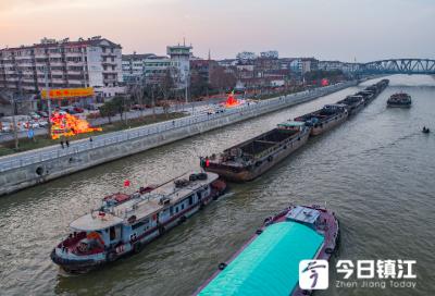 春运一周镇江水上交通繁忙  苏南运河通过船舶3000多艘次