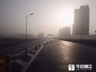 提醒!五凤口高架桥面及匝道有薄冰,润扬大桥暂时全线封闭